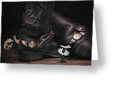 Boots And Spurs Greeting Card by Krasimir Tolev
