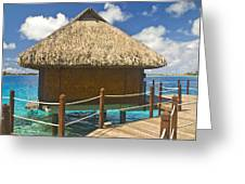 Bora Bora Bungalow Greeting Card