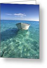 Bora Bora White Boat Greeting Card