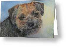 Border Terrier Jack Greeting Card