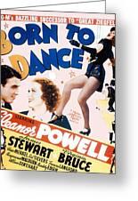 Born To Dance Greeting Card