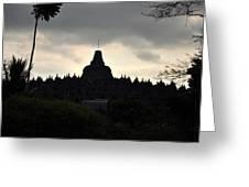 Borobudur Temple Greeting Card by Achmad Bachtiar