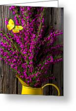 Boronia With Yellow Butterfly Greeting Card