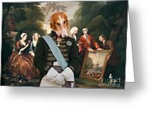 Borzoi - Russian Wolfhound Art Canvas Print Greeting Card