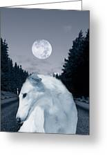 Borzoi Beauty Greeting Card by Christian Lagereek