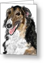 Borzoi Handsome Greeting Card
