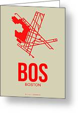 Bos Boston Airport Poster 1 Greeting Card