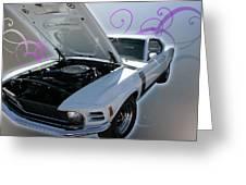 Boss 302 Mustang Greeting Card