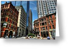 Boston 007 Greeting Card by Lance Vaughn