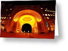 Boston - 50 Rowes Wharf Arch Greeting Card