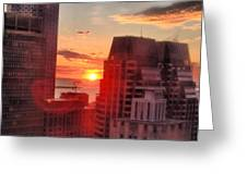 Boston At Dawn Greeting Card