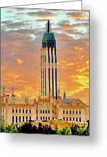 Boston Ave Methodist Church Tulsa Oklahoma Greeting Card
