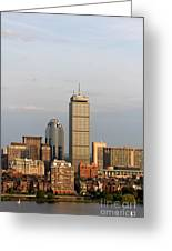 Boston Back Bay With The Prudential Tower Greeting Card