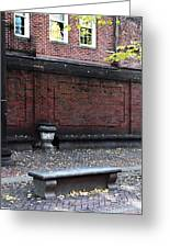 Boston Bench Greeting Card
