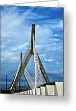 Boston Bridge Greeting Card by Melanie McKinney
