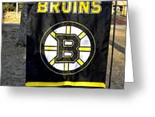 Boston Bruins Flag Greeting Card