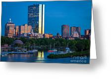 Boston By Night Greeting Card