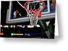 Boston Celtics' Basket Greeting Card