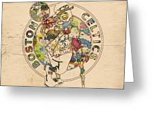 Boston Celtics Logo Vintage Greeting Card