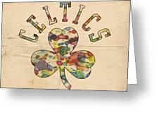 Boston Celtics Poster Art Greeting Card