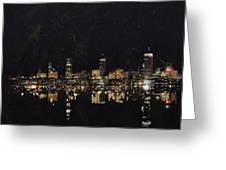 Boston City Skyline 2 Greeting Card