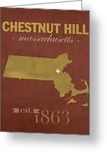 Boston College Eagles Chestnut Hill Massachusetts College Town State Map Poster Series No 020 Greeting Card