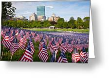 Boston Common Flags Greeting Card