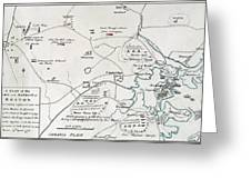 Boston-concord Map, 1775 Greeting Card