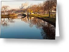 Boston Esplanade Greeting Card by Lee Costa