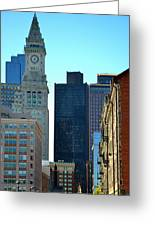 Boston Financial District Greeting Card