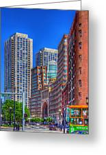 Boston Financial District Greeting Card