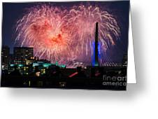 Boston Fireworks 1 Greeting Card