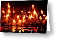 Boston Fireworks  Firepower Greeting Card