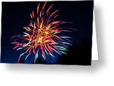 Boston Fireworks Greeting Card