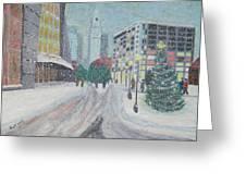 Boston First Snow Greeting Card