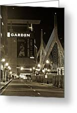 Boston Garder And Side Street Greeting Card