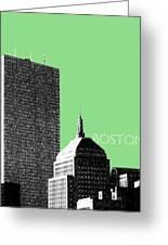 Boston Hancock Tower - Sage Greeting Card