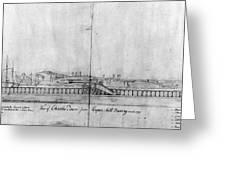 Boston Harbor, 1778 Greeting Card