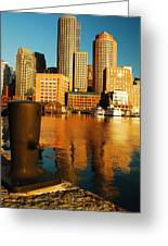 Boston Harbor Greeting Card by James Kirkikis