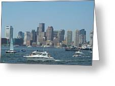 Boston Harbor July Fourth Greeting Card
