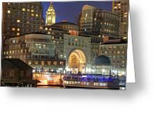 Boston Harbor Party Greeting Card