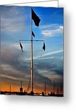 Boston Harbor Twilight Greeting Card
