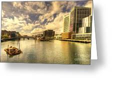 Boston Harbour  Greeting Card