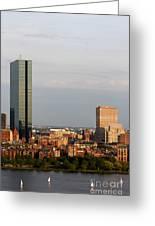 Boston John Hancock Tower Skyline Greeting Card