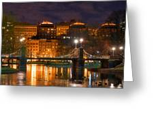 Boston Lagoon Bridge 2 Greeting Card by Joann Vitali