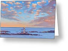 Boston Light Greeting Card