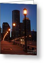 Boston Lights Greeting Card