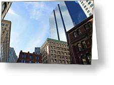 Boston Ma Architecture 2 Greeting Card