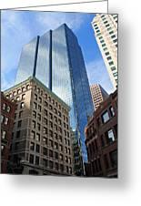 Boston Ma Architecture Greeting Card