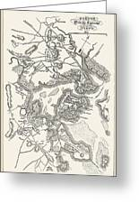 Boston: Map, 1775-1776 Greeting Card